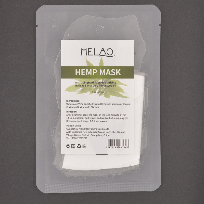 Hemp masks sheet nourishing & hyaluronic face vegan facial mud cbd oil gel natural organic private label lavender