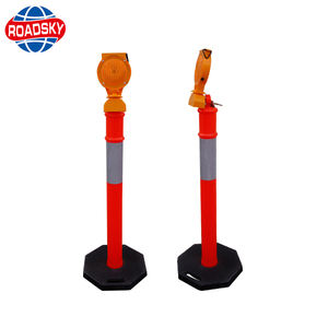 Road Safety Plastic Warning Pole Decorative Bollards Pvc Delineator Post