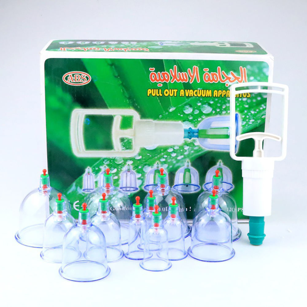 Cupping Hijama Cups Thearphy Set Anti Cellulite Siliconen Vacuüm Massage Glas Machine Fire Cupping Set