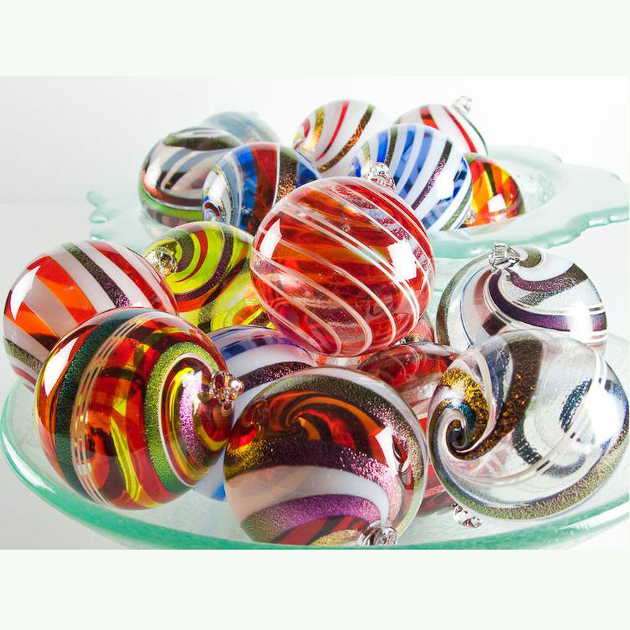 <span class=keywords><strong>Natale</strong></span> in vetro di <span class=keywords><strong>murano</strong></span> palline multicolor