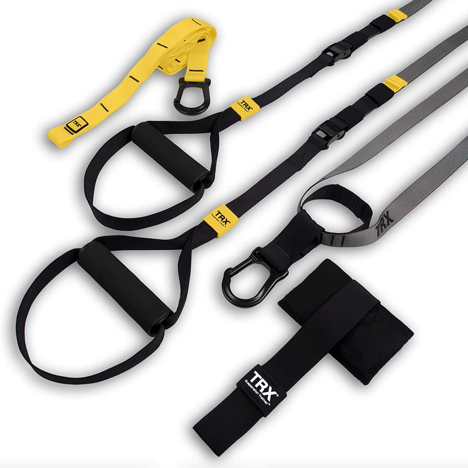 Bodyweight Resistance Training Straps Kit Complete Home Gym Fitness Trainer kit for Full-Body Workout