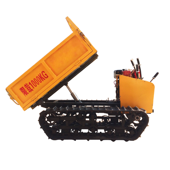 New type and small crawler moving remote control dumper