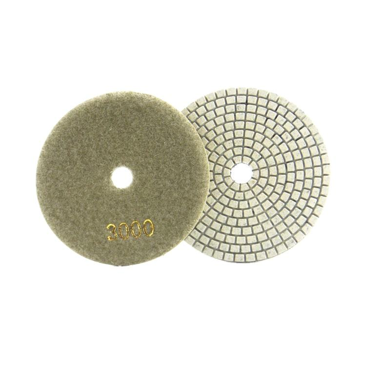 Fullux wet polisher resin metal bond marble granite tile stone polishing pads for ceramic floor angle grinder