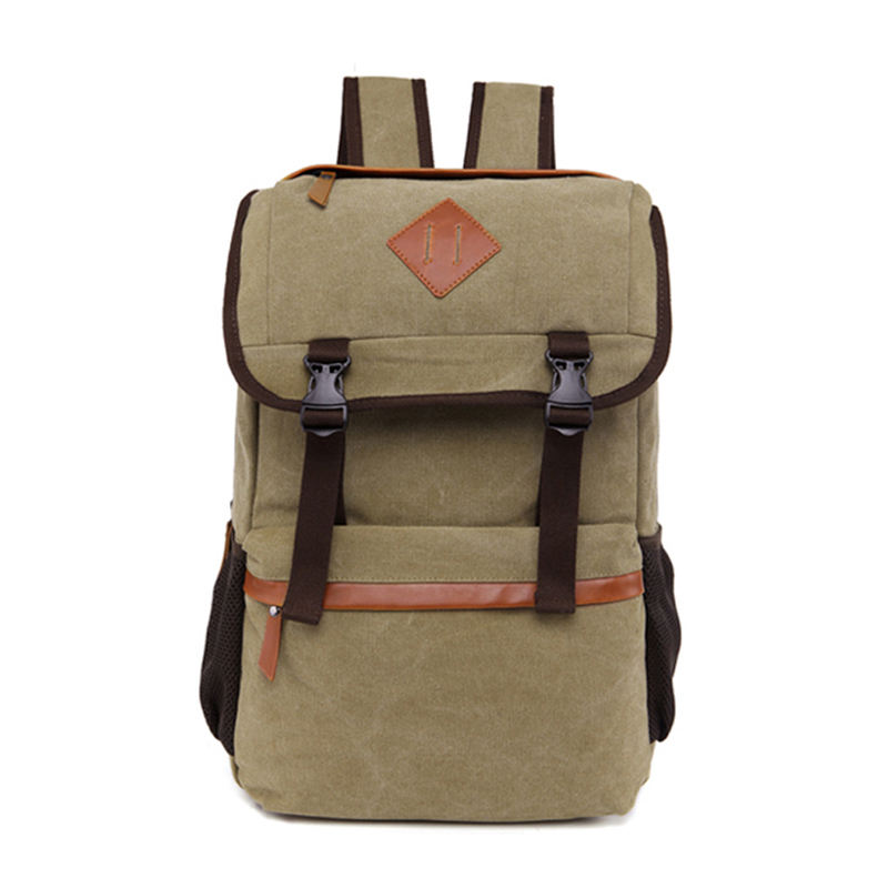 Factory retro mochila school bagpack back pack canvas custom backpack rucksack