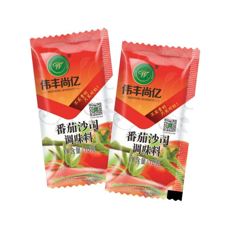 Manufacturer directly sale OEM ODM Tomato sauce tomato ketchup 10g/pack of special sauce for fried chicken and French fries