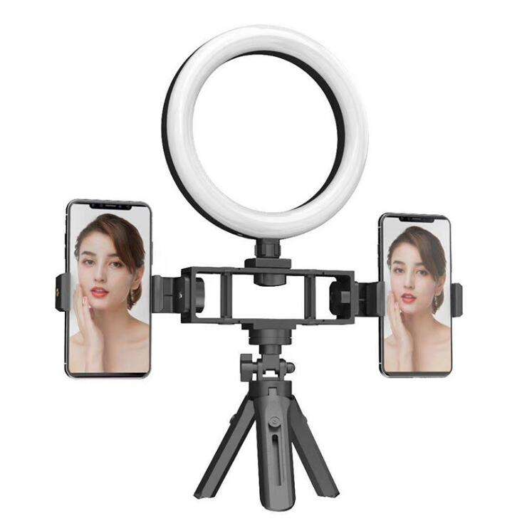LED Fill Light Bracket Portable Ring Light Two-Position Machine Selfie Tripod Video Live Fill Light Bracket