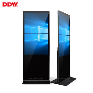 Hot 43 inch floor standing vertical tv touch screen kiosk 4k indoor advertising player display screen hd lcd led digital signage
