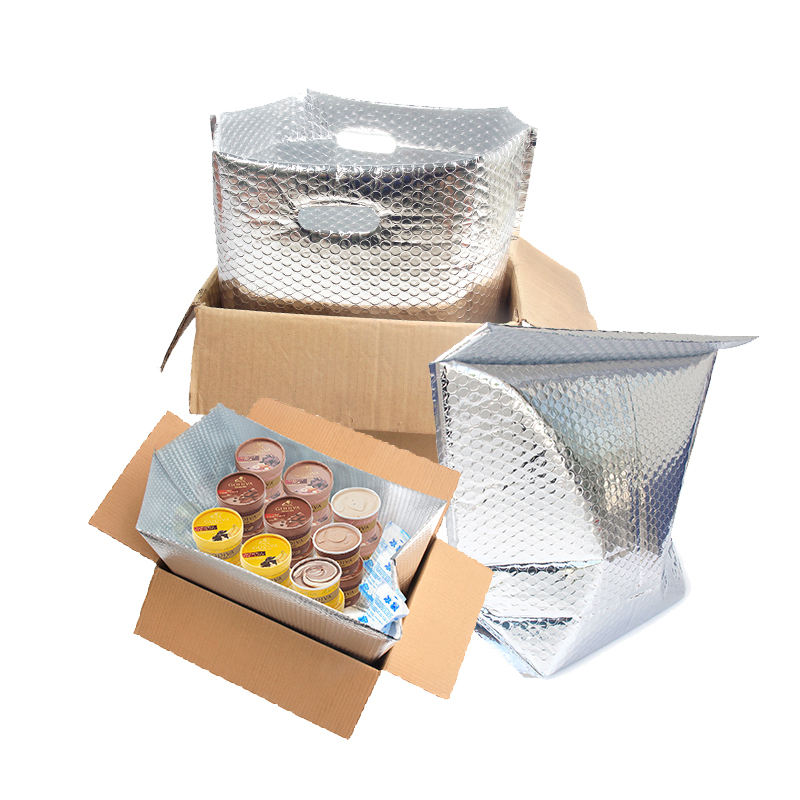 high quality insulated foil bubble cooler box liner bag,insulated shipping box liner