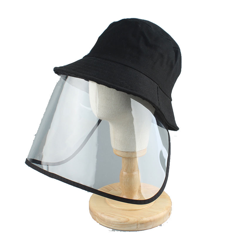 Magic stick Detachable Protective Splash Proof Anti-pollen Anti-saliva Face Cover Anti-spitting Bucket Hats