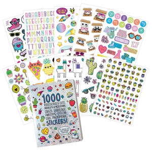 Wholesale Printing Reusable Peelable Self Adhesive Paper Children Sticker Book