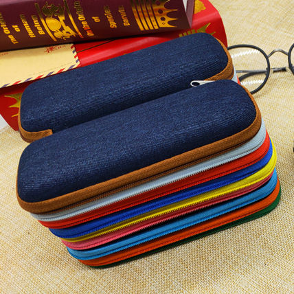 High-quality EVA Jeans Style Glasses Case Multicolor Zip