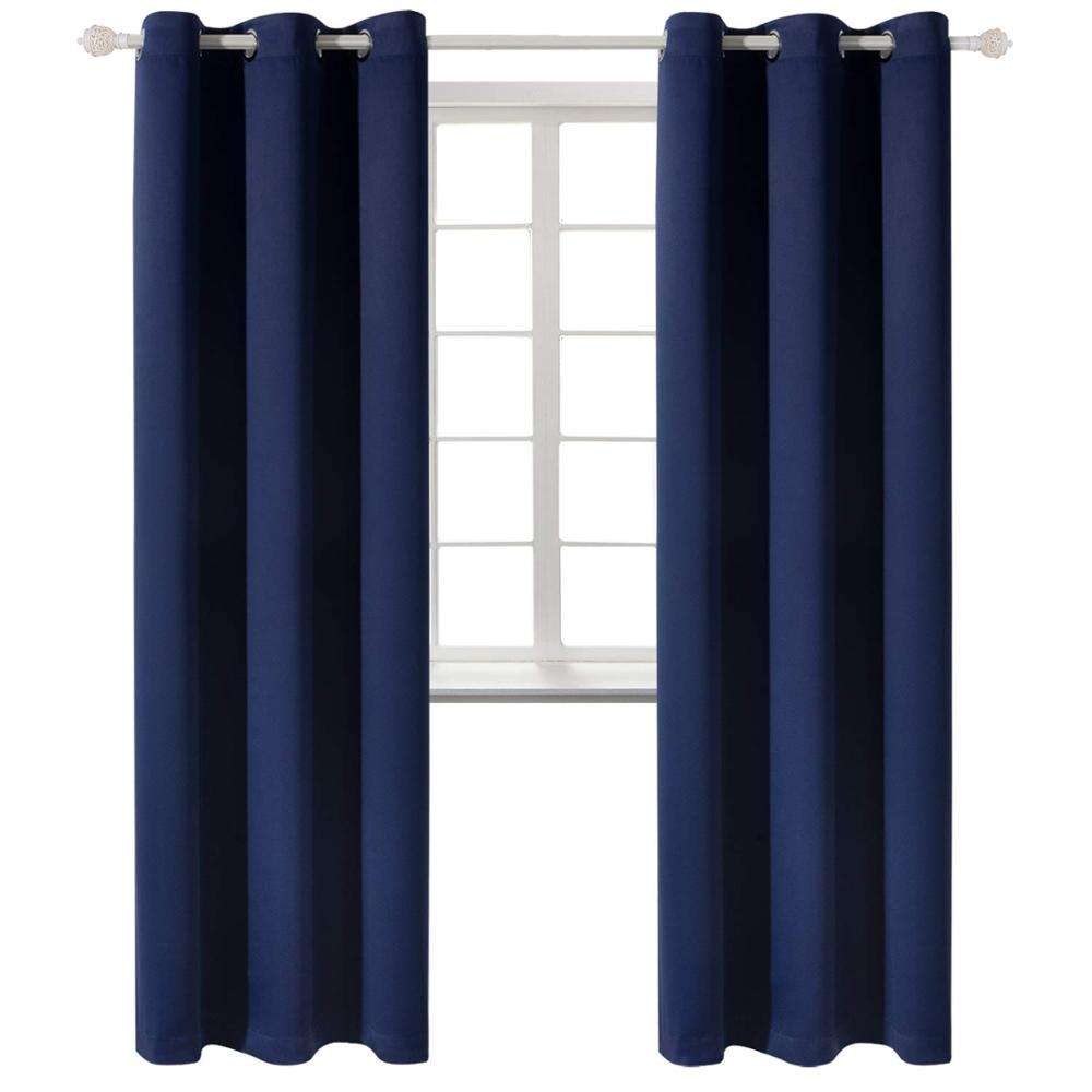 Cheap 42*84 Inch Readymade Solid Blackout Curtain For Living Room