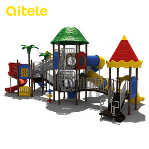 New Series Outdoor Playground Equipment Kids Plastic Slide