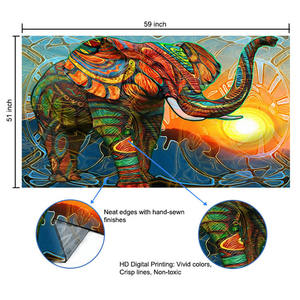 2020 New Arrival Digital Print Tapestry 3d Printed Hippie Custom Modern Elephant Mandala Indian Wall Hanging Tapestry