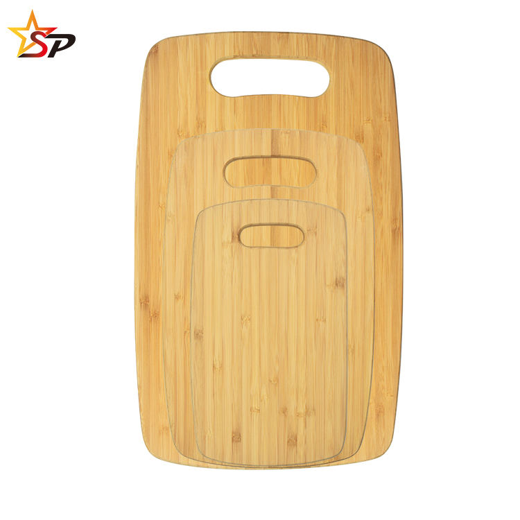 Bamboo Chopping Board Set - 3 Piece Natural Bamboo Set