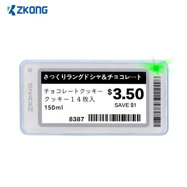 Zkong wireless bluetooth digital e ink price tag supermarket display price tag holder display esl electronic shelf price la