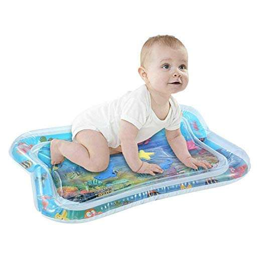 Inflatable Tummy Time Premium Water Mat for Infants and Toddlers tummy time play mat for baby