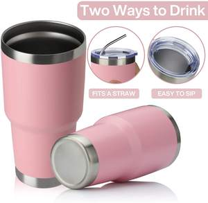 Metal ozark trail tumbler coffee cups vacuum insulated travel mug