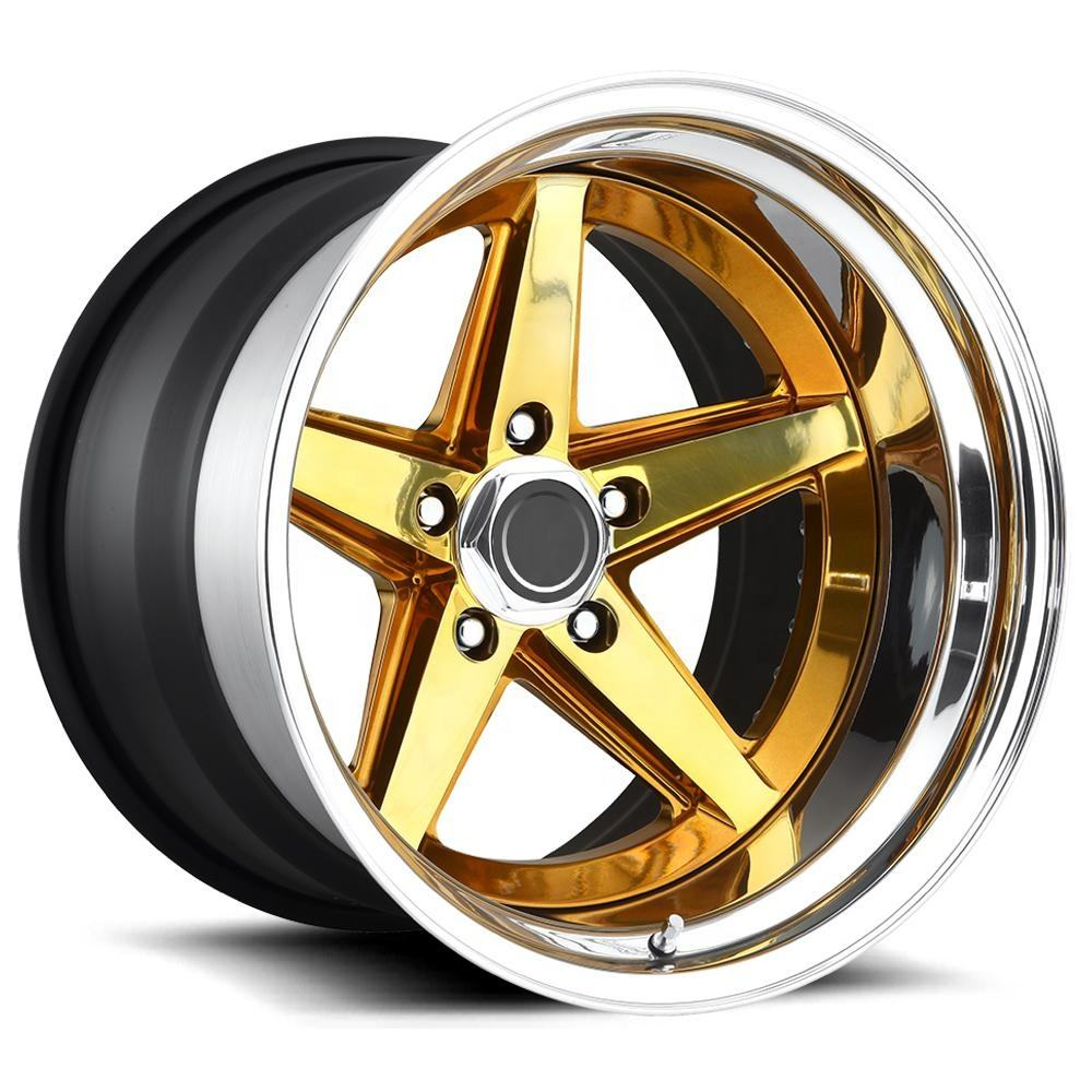 6061 T6 Aluminum 3pcs forged wheels,forged wheel rims with diameter 13''-24''