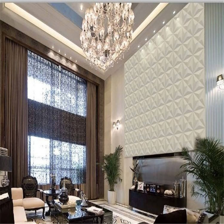 PVC 3D wall panel with painted color / plastic virgin material wall panel with water-proof