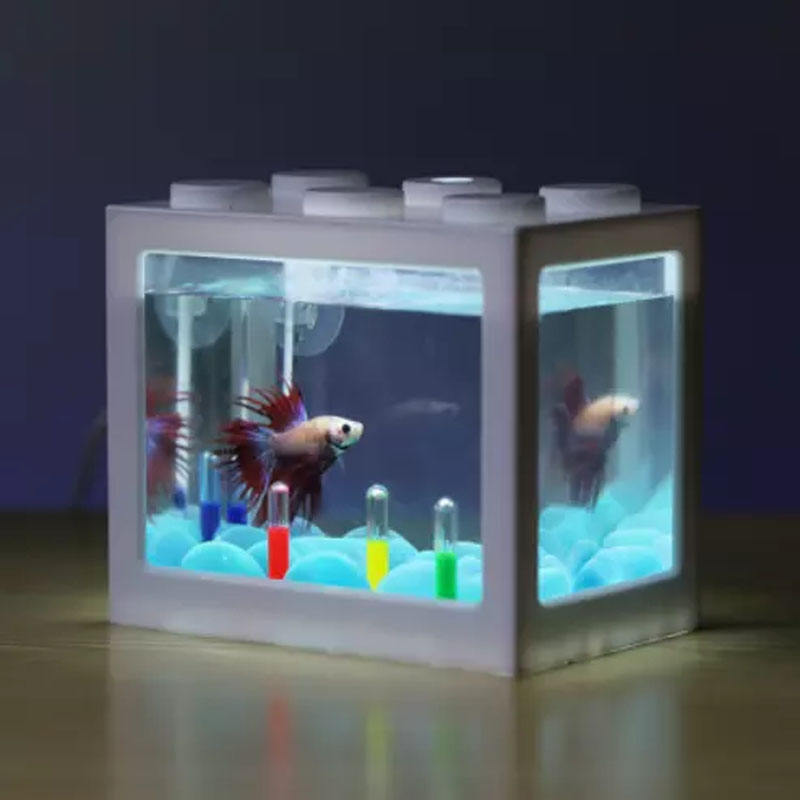 Betta fish Fighting Cylinder Rumble Fish Cylinder Mini Aquarium Building block fish tank