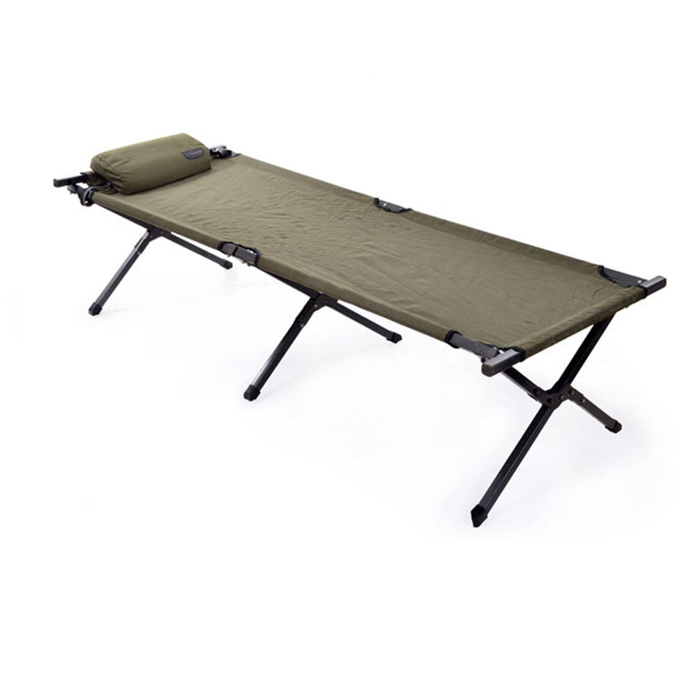 military army steel camping field bed