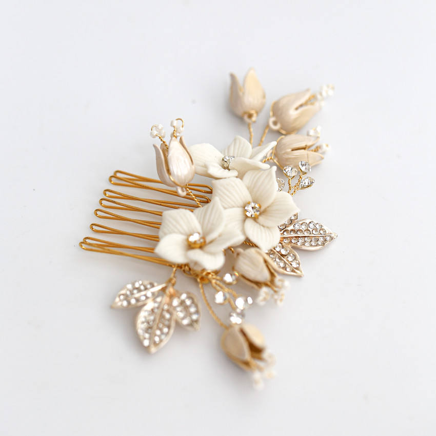New product luxury bridal hair accessories bridal hair comb for wedding jewelry