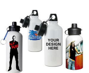 Free Sample 400/500/600ML Metal Water Bottle Custom Printing Aluminum Sports Bottle