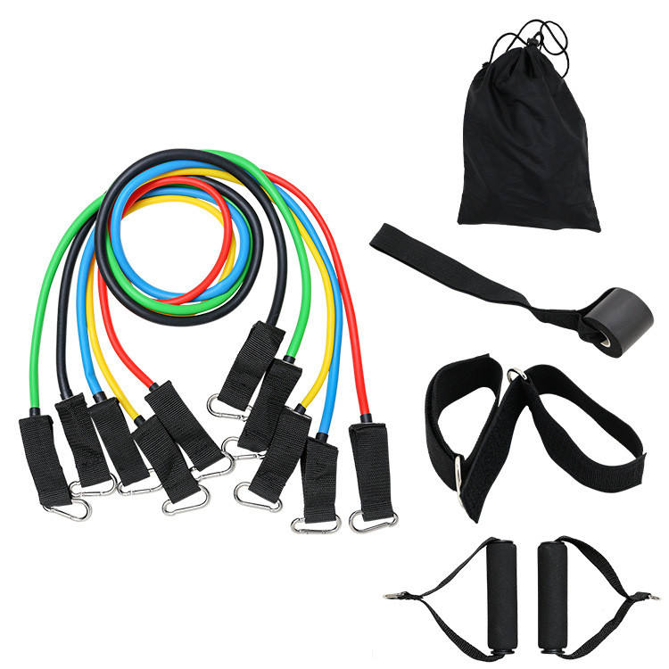 Indoor Fitness Buizen Rubber Band Stretch Training Workout Elastische Band Pull Touw 11Pcs Resistance Bands Set