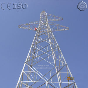 Transmission Line Transmission Tower 132KV Power Transmission Line Steel Lattice Tower