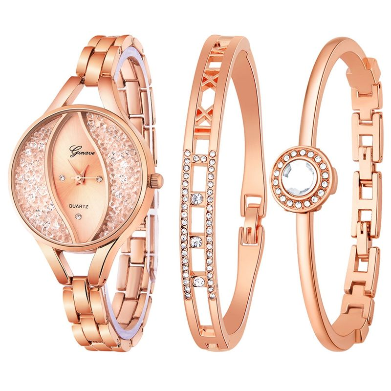 Fashion Rhinestone Women's Watches Luxury Brand Bracelet Ladies Quartz Dress Watches relojmujer Watches Suit Women Clock