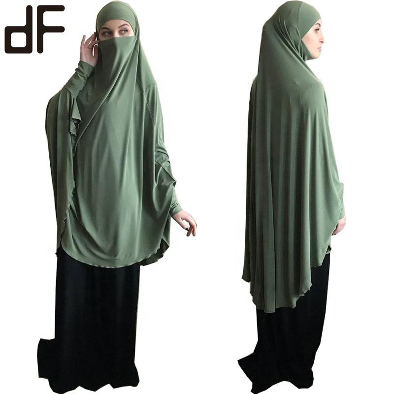 ready to ship ethnic telekung prayer thobe kaftan dubai robe kimono caftan muslim hijab dress abayas for women islamic clothing