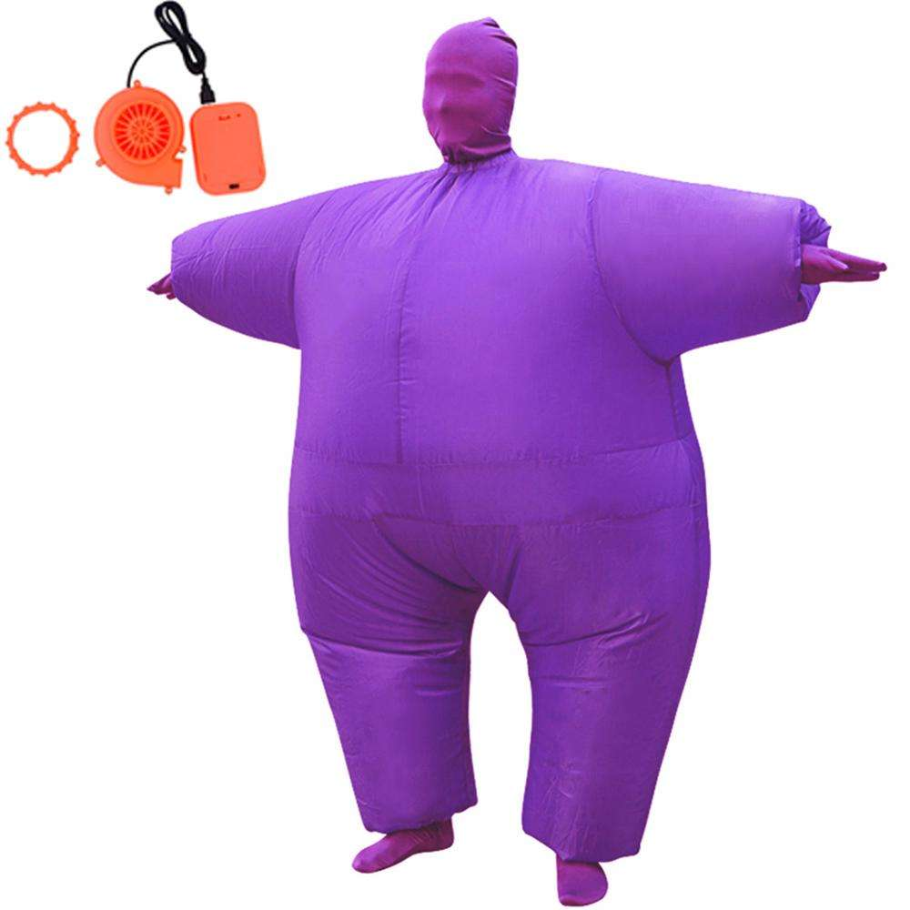 Inflatable Full Body Suit Costume Adult Funny Cosplay Cloth Party Toy Gift for Halloween Christmas, Free Size