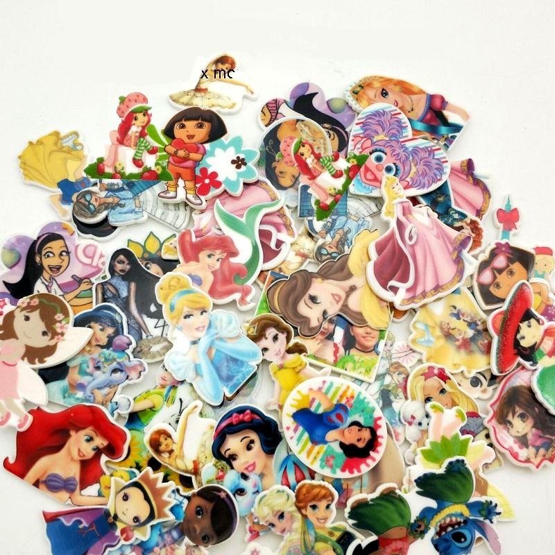 1.2inch Cartoon Princess girl resin Flatback Resin Planar Cabochon for DIY Craft Embellishments 50pcs free shipping