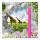 3D giraffe animal print art vinyl sticker custom height chart kids wall decals