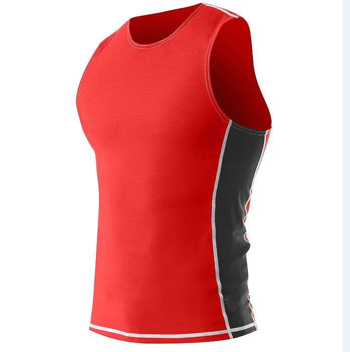 Professional Manufacturer NO MOQ Custom Men Sleeveless Anti-UV UPF50+ Lycra Rash Vests