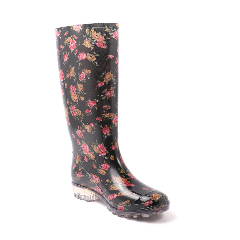 2020 Upgraded Custom Beautiful High Fashion Waterproof Rain Boot Woman