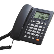 Black Office Telephone Set Caller ID Phones with Shortcut Dial Function