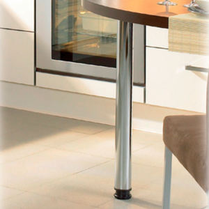 Contemporary height adjustable chrome plated metal furniture cabinet table legs
