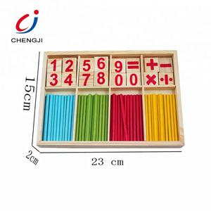 Educational wooden colorful learning counting numbers stick toy kids maths toys