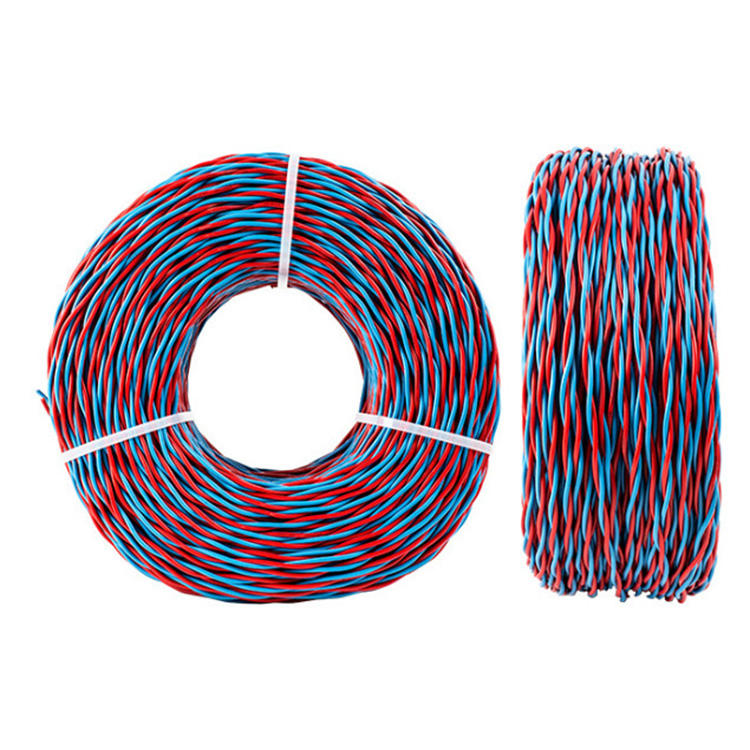 Pvc Insulated Two Core Twist Pair Copper Rvs Cable Power Cable And Electric Cable 0.5 0.75 1 1.5 2.5 mm RVS Stranded wire
