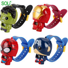 Fashion Cartoon Cheap Child Watch Kids Fancy Watches Marvel Heroes Deformable Digital Watch toys for children