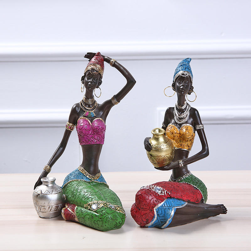 African Figure Ornaments Home Decoration