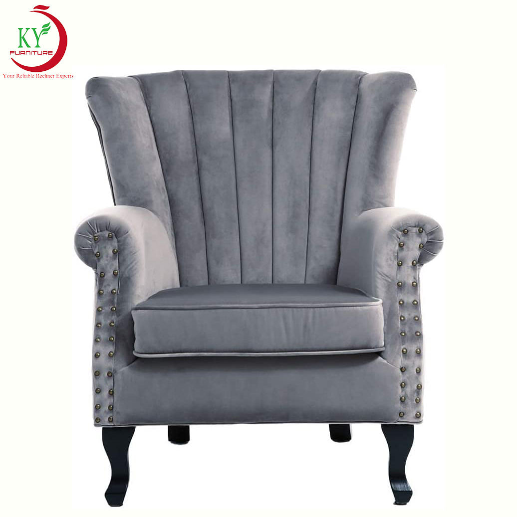 Jky Meubels Ontspannen Moderne Stof Bekleding Hoge Rug <span class=keywords><strong>Accent</strong></span> Fauteuil Voor Woonkamer