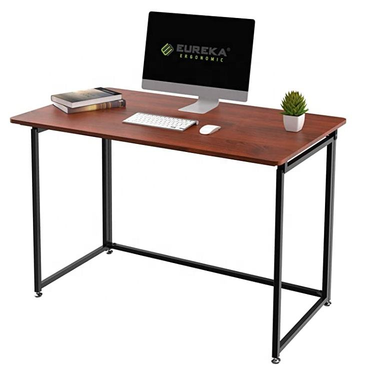 Modern Folding Computer Desk Teen Student Dorm Study Desks Fold up Desk Laptop Working and Crafting For Home Office