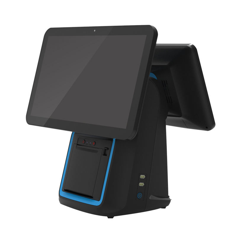 "15.6"" customizable pos cash register machines POS Systems VFD LED 8 digital bluetooth msr wifi payment terminal"