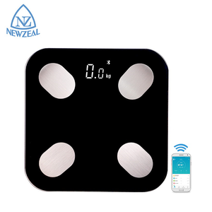 Free AAA batteries Tempered Glass Digital Body Weight APP Fat BMI Water Bluetooth Body Scale