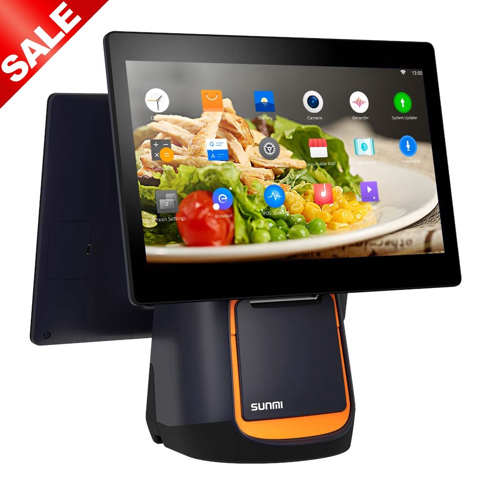 Sunmi T2 Epos Point Of Sale Android Pos Perangkat Lunak Sistem Mesin Cash Register Terminal POS Komputer Produsen