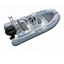 2019 Newest Orca Tube Fiberglass Dinghy Inflatable Boat Military RIB 390 Model with Outboard Engine