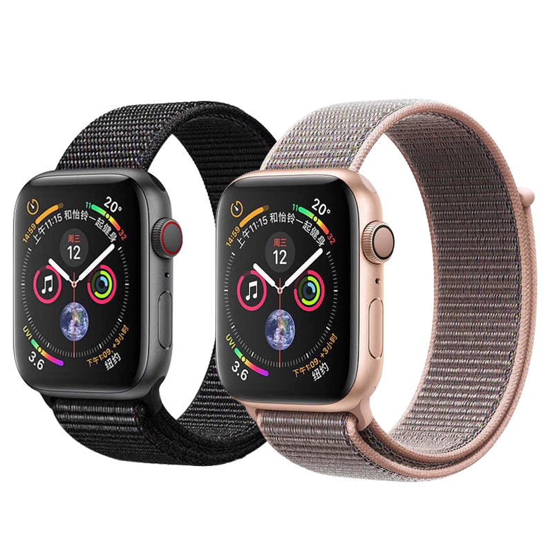 Loop woven Nylon band strap for apple watch band 42mm 38mm sport fabric nylon bracelet 44mm 40mm iwatch 5/4/3/2 watchband